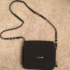 Nine West black crossbody with silver detail